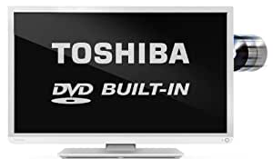 """Toshiba 32D1334DB - 32"""" HD Ready LED TV with Freeview and built-in DVD player  (White)"""
