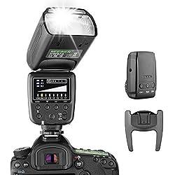 Neewer Flash Speedlite avec Système sans Fil 2,4G et 15 Canaux Transmetteur pour Canon Nikon Sony Panasonic Olympus Fujifilm Pentax et d'Autres Appareils Photo Reflex avec Sabot Standard (NW570)