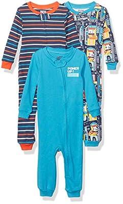 Marca Amazon - Spotted Zebra 3-Pack Snug-fit Cotton Footless Sleeper Pajamas Unisex bebé