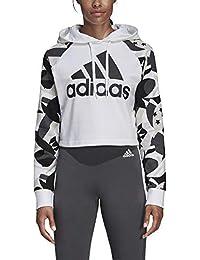 adidas W SID Hood AOP Sudadera, Mujer, Blanco/Negro, S
