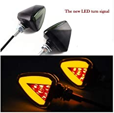 Leebo 4Pcs Motorcycle Turn Signal Light Indicator Corner Lamp LED Steering Lamp Red Yellow for Royal Enfield Classic 500