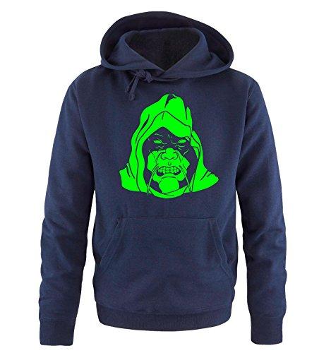 Comedy Shirts - BAD BOY - Uomo Hoodie cappuccio sweater - taglia S-XXL different colors blu navy / neon verde