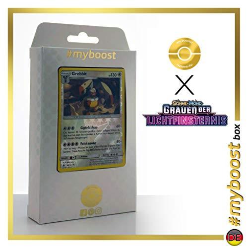 Grebbit (Diggersby) 98/131 Holo Reverse - #myboost X Sonne & Mond 6 Grauen Der Lichtfinsternis - Box de 10 Cartas Pokémon Aleman