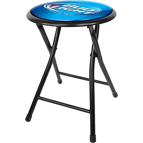 bud-light-18-inch-cushioned-folding-stool-black