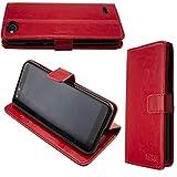 caseroxx Hülle/Tasche Bookstyle-Case Gigaset GS100 Handy-Tasche, Wallet-Case Klapptasche in rot