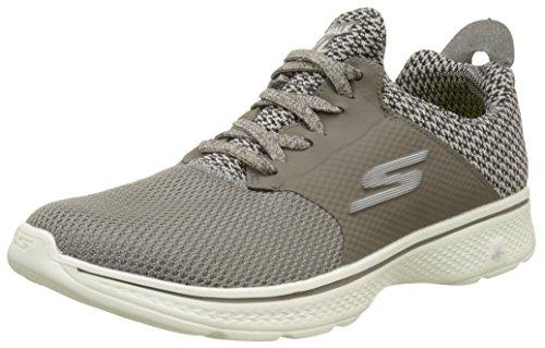 Skechers Go Walk 4-Instinct Scarpe Running Uomo, Marrone (Taupe) 42 EU