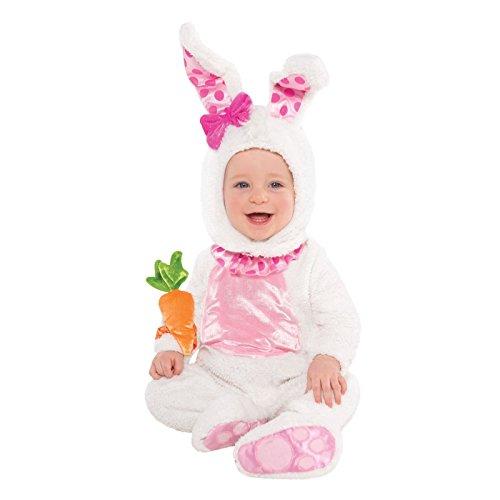 Plüsch weich Babys Kleinkinder weiß Kaninchen Outfit Baby Alice Wonderland Magier Ostern Halloween Buch Woche Wittle Wabbit Bunny Kostüm (Bunny Outfit Für Baby)