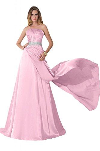 Sunvary su fondo arricciato, per abiti da sera o da cerimonia, con decorazioni in cristallo Charmeuse Gowns Pink