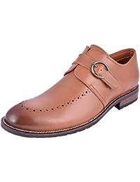 SADDLE & BARNES Men's Leather Monk Strap Shoes