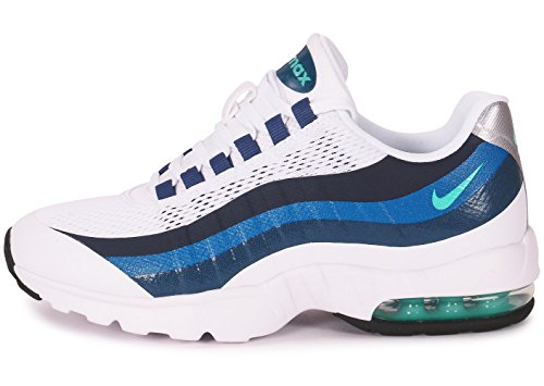 Nike - Wmns Air Max 95 Ultra, Scarpe sportive Donna white crystal mint blue new slate 100