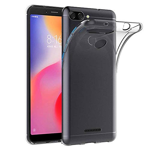 Electrónica Rey - Funda Carcasa Gel Transparente para XIAOMI REDMI 6, Ultra...