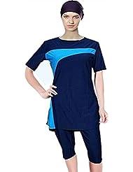 ee8b54e474 nadamuSun Maillots de Bain Modeste Combinaison Surf Femme Musulmane Hindou  juif Short pour Femme Beachwear Islamique