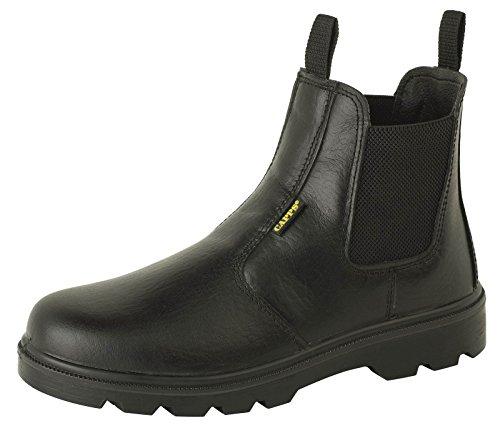Delta Plus LH829S1 Bottes de travail Sécurité Noir Hommes chaussures en cuir Black