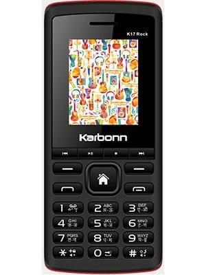 Karbonn 17 Rock Dual SIM Basic Phone (Black-Red)
