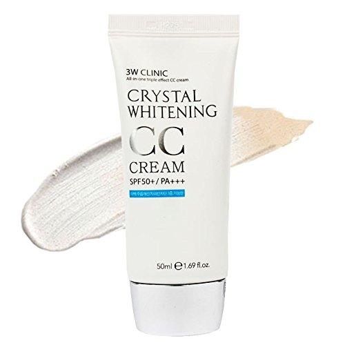3W Clinic Crystal Whitening Cc Cream Spf 50 Pa+++ No.1 Glitter Beige