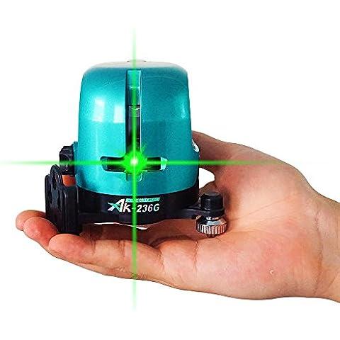 ak-236g al aire libre brillante verde 360nivel láser giratorio Self Nivelación LáSer en cruz Line 1V1H horizontal y vertical