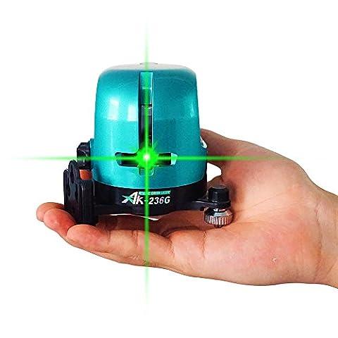 ak-236g extérieur Vert Vif Niveau laser rotatif 360à 1V1H Niveau laser croix horizontale et verticale ligne