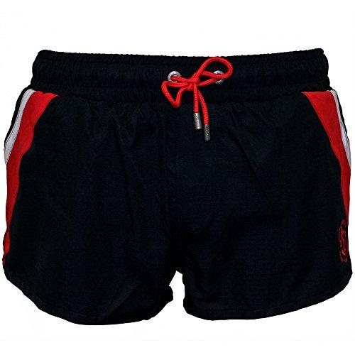 Shorts De Bain Jockey Côté Bande Athlétique Masculin, Marine Rouge Bleu Marine/rouge