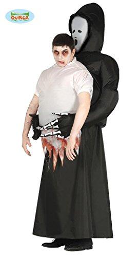 aufblasbares Sensemann Kostüm für Herren Halloweenkostüm Tod tot Seele Gr. M-XL, (Kostüm Sensenmann Ideen Der)