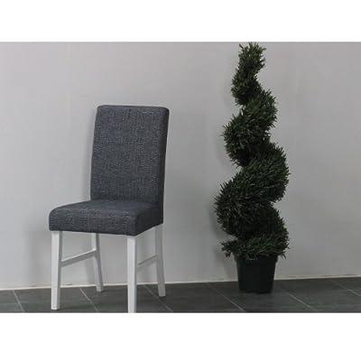 2 x Esszimmerstühle MAX Essgruppe Stuhlgruppe Sitzgruppe Küche Massiv weiß