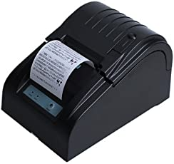 BOYISEN ZJ-5890T Stampante termica Stampante termica per ricevute Rotoli di carta termica 58mm 90mm / sec, ESC/POS, Mini USB portatile, compatibile con Win XP/Vista / Win 7 / Win 8, LINUX