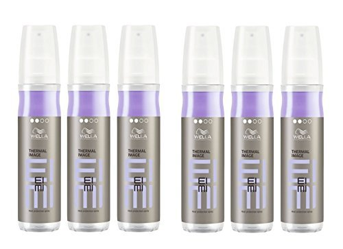 Wella EIMI Thermal Image 6 x 150 ml Smooth Styling Hitzeschutz Spray Professionals by Wella