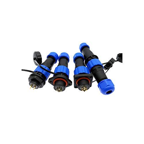 Wasserdichter Stecker SP16 IP68-Kabelstecker-Steckdose männlich und weiblich 2 3 4 5 6 7 9 Pin, eckig, 3P - Eckigen 4 Stecker 3