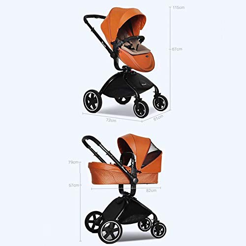 Baby Stroller | 3-in-1 Stroller | With Travel System | Baby Stroller Yellow,Yellow  doune