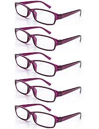 fbdd368f7c 4sold Gafas de Lectura Presbicia Vista Cansada - (Pack 5) Graduadas fde 0.5  a 4.00 Dioptrías Montura de Pasta Azul Marrón Negra…