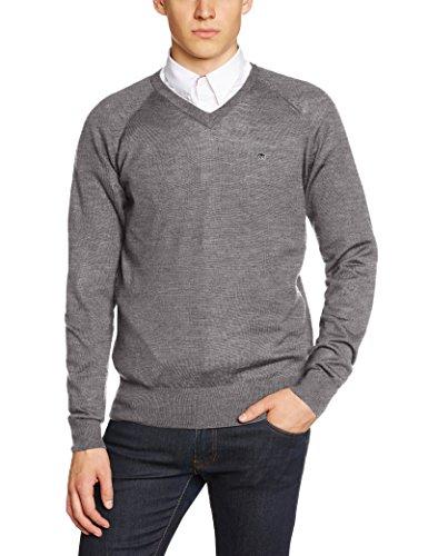 merc-of-london-conrad-jersey-de-punto-de-manga-larga-con-cuello-pico-para-hombre-color-gris-mineral-