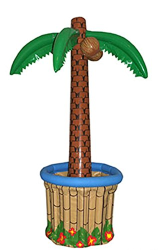 asbare Palme Hoola Aloha Strandparty Deko Wanne Getränkekühlung, 180cm, Mehrfarbig ()