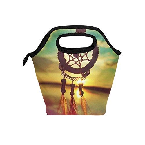 JSTEL - Bolsa de almuerzo con diseño de atrapasueños, bolsa para el almuerzo, bolsa de almuerzo, contenedor de alimentos, para viajes, picnic, escuela, oficina