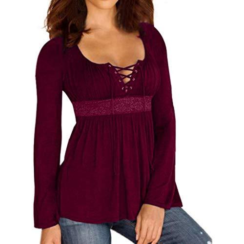 Meibax bluse e camicie donna taglie forti/pullover donna cotone/camicetta da donna lunga/top camicetta casual bende solide/camicia donna manica lunga