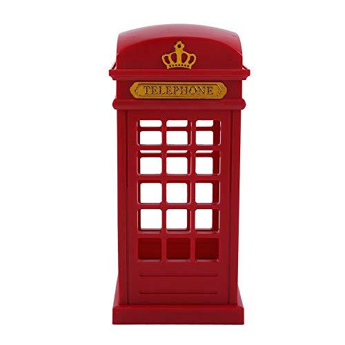 Vintage london cabina telefonica progettata con ricarica usb lampada da notte a led lampada da tavolo a led ricaricabile con retro cabina classica, luce notturna sensore di tocco per la decorazione do