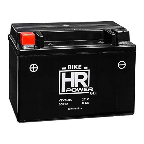 GEL Motorrad Batterie Starterbatterie 12V 8Ah YTX9-BS 50812 wartungsfrei