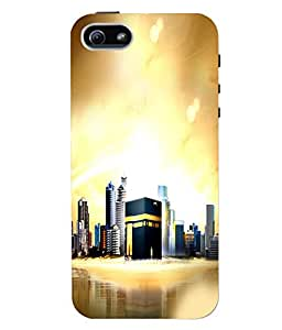 Fuson 3D Printed Makkah Madina Designer Back Case Cover for Apple iPhone 5 - D554