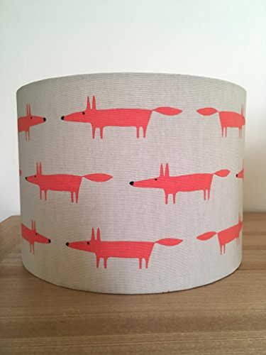handmade-20cm-fabric-lampshade-featuring-mr-fox-little-fox-by-scion-uk-neutral-and-paprika-for-table