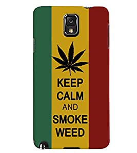 Samsung Note3 Multicolor Smoke Weed Mobile Cover