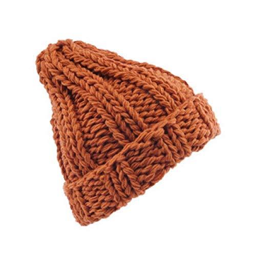 MZNEO Winter-Frauen-Hut-Faux-Pelz-weibliche Warme Kappe Gestrickte Beanie-mädchen-hüte Frauen-mützen-Frau Starke Dehnbare Hüte, Orange