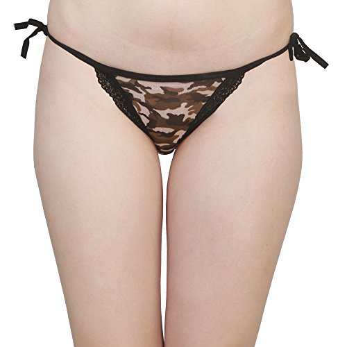 Women's Latest Designer Comfortable Camouflage Hip Hugger Jacquard Cotton Lace Bikini Pant... By Sizzle N Shine  available at amazon for Rs.349