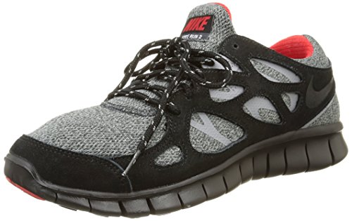 Nike Free Run 2, Chaussures de Running Entrainement Homme noir / Rouge (Black / University Red-Anthrct)