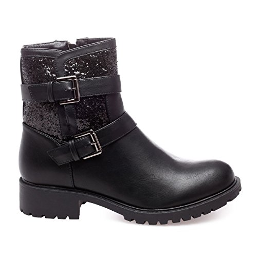 La Modeuse - Bottines aspect cuir Noir