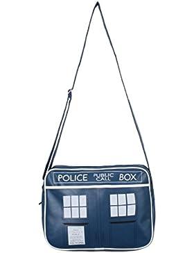 Doctor Who Tardis Umhängetasche blau/weiß