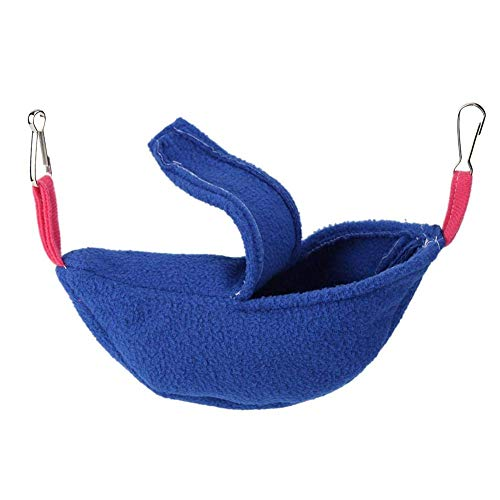Coogel Winter Warm Banana Hamster Hammock Hang Cage Pet Birds Sleeping Nest House (Blue) -