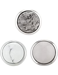 Morella mujer Click-Button Set 3 pcs mirada de piedra-botones de presión