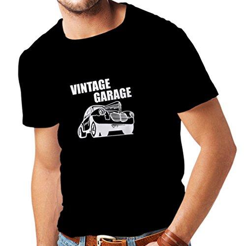 Lepni.me maglietta da uomo garage d'epoca - attrezzatura per officina, abbigliamento automobilistico (medium nero fluorescente)