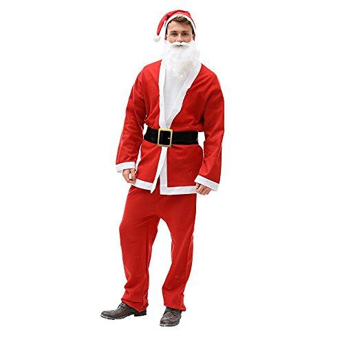 Christmas Shop Unisex Santa-Anzug / Weihnachtsmann-Anzug / Nikolaus-Anzug (One Size) (Herren Santa Anzug)