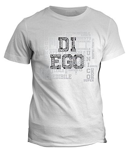 Tshirt Compleanno Diego nome del festeggiato maglietta unica e originale - eventi - idea regalo - in cotone Bianco