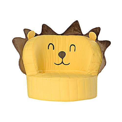 HOMDREAM Kindersessel Weichem Plüsch Kindersofa Sessel Waschbar Für Mädchen Jungen Schlafzimmer Spielzimmer (süßer Gelber Löwe)
