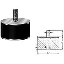 Gummipuffer Gummi Metallpuffer Puffer - Typ B - 30 x 30 mm - M8